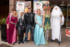 People waering Fancy Dress Costume Stock Photo