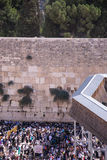 People at the Wailing Wall Royalty Free Stock Photography