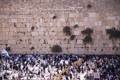 People at the Wailing Wall Royalty Free Stock Images