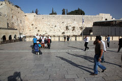 People at the Wailing Wall Stock Photo