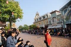 People wait Disney parade Royalty Free Stock Photo