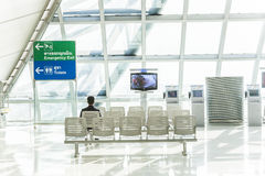 People wait at gate at Suvarnabhumi Royalty Free Stock Images