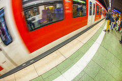 People wait at the metro station Royalty Free Stock Images