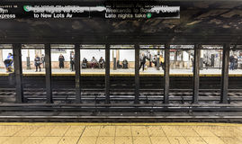 People wait at subway station Wall street Royalty Free Stock Images