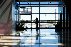 People waiting in the airport Royalty Free Stock Photography