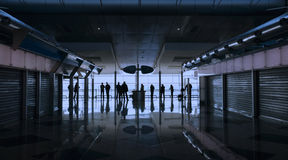 People waiting at the airport royalty free stock photos