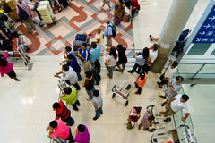 People are waiting for arrive passenger Royalty Free Stock Image