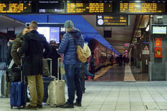 Free People Waiting At The Train Station Stock Image - 84812511