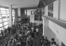 People waiting at boarding gate in Tan Son Nhat Airport, Saigon, Vietnam Stock Images