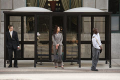 People waiting for bus Royalty Free Stock Images