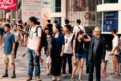 People waiting for the bus Royalty Free Stock Image