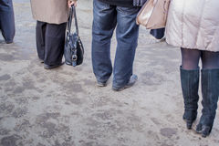 People Waiting for A Bus Royalty Free Stock Images