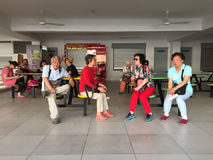 People waiting for bus in George Town, Penang, Malaysia Royalty Free Stock Photo