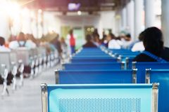 Bus station. People are waiting for a bus to go home Royalty Free Stock Images
