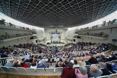 People waiting concert of Symphony Orchestra Stock Photography