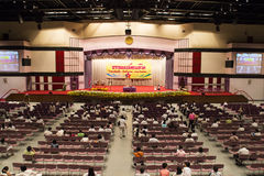 The people is waiting for Dhamma presentation on August 31, 2014 Stock Photo