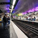 People Waiting For Train On Platform In Paris Royalty Free Stock Images