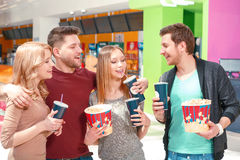 People waiting for house with snacks Royalty Free Stock Photos