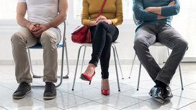 People waiting for job interview. Group of people waiting for job interview Royalty Free Stock Photos