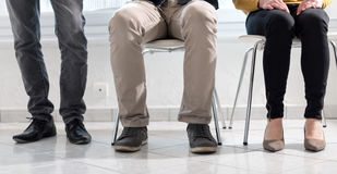 People waiting for job interview. Group of people waiting for job interview Stock Photography