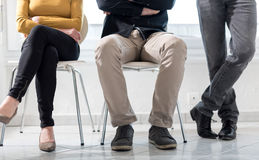 People waiting for job interview. Group of people waiting for job interview Stock Images