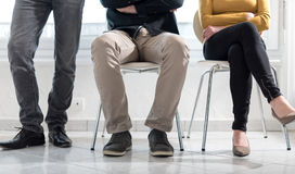 People waiting for job interview. Group of people waiting for job interview Royalty Free Stock Photography