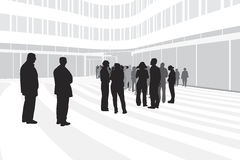 People waiting in line Royalty Free Stock Images