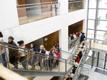 People waiting in line. Large group of people waiting in line Stock Images