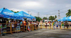 People waiting passengers at the airport in Boracay, Philippines Royalty Free Stock Images