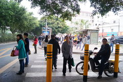 People waiting for public bus Royalty Free Stock Photography