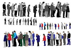 People waiting in queue Royalty Free Stock Photography