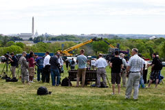People waiting for Space Shuttle Discovery Royalty Free Stock Photography