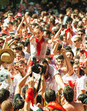 People waiting the start of San Fermin festival Royalty Free Stock Image