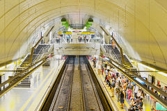 People waiting for the subway. Line H Stock Photo
