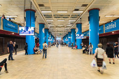 People Waiting For Train In Central Subway Station Of Downtown Bucharest Stock Photos