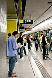 People waiting for train in Hong Kong underground Royalty Free Stock Photography