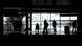 People waiting for a train. Metro station in Prague, Czech republic Royalty Free Stock Photo
