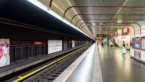 People Waiting For Train In Praterstern Subway Station In Vienna Royalty Free Stock Photo