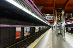 People Waiting For Train In Schottentor Subway Station In Vienna Stock Photo