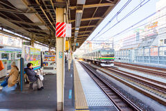 People waiting train in the Train station in Japan Stock Photo