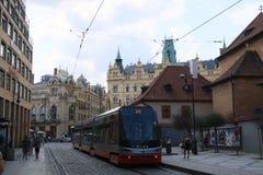 tram of Prague royalty free stock image