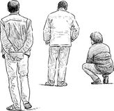 People waiting Royalty Free Stock Image
