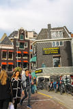 People waking in city centre of Amsterdam, the Netherlands Royalty Free Stock Image