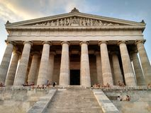 People at Walhalla Memorial, Regensburg, Germany stock image