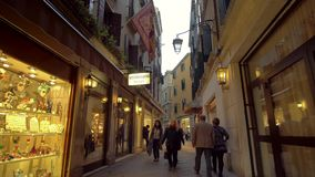 People Waling on the Streets in Venice stock video