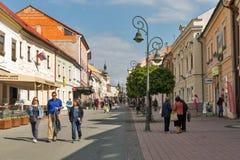Dolna street in Banska Bystrica, Slovakia. Stock Image