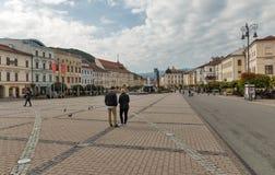 SNP square in Banska Bystrica, Slovakia. Stock Images