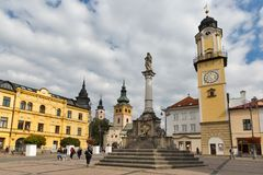 SNP square in Banska Bystrica, Slovakia. Royalty Free Stock Photo