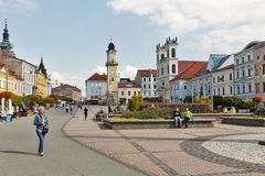 SNP square in Banska Bystrica, Slovakia. Royalty Free Stock Image