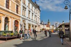 SNP square in Banska Bystrica, Slovakia. Stock Image